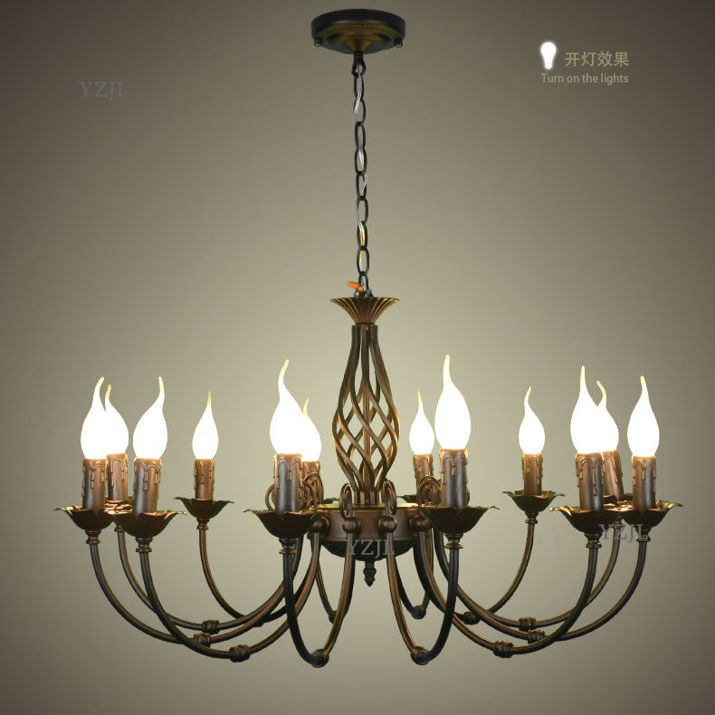 American simple creative pastoral chandelier light vintage living room dining room bedroom chandelier LED lighting chandelier vintage clothing store personalized art chandelier chandelier edison the heavenly maids scatter blossoms tiny cages