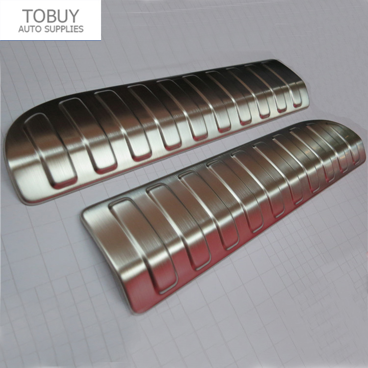 Car styling Stainless Steel Rear Trunk Bumper Protector Sill plate cover Guard Trims for Sport L494 2014 2015