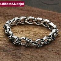 Star with money Skull Bracelet 925 sterling silver men friendship bracelet bangle men bands silver 925 jewelry fashion GB54