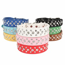 Rhinestone Personalised Dog Collars
