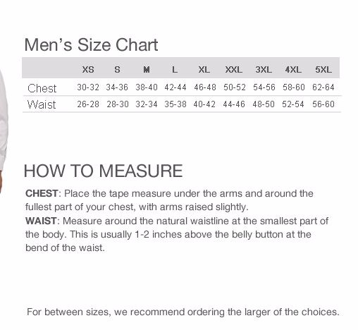 man vest measure