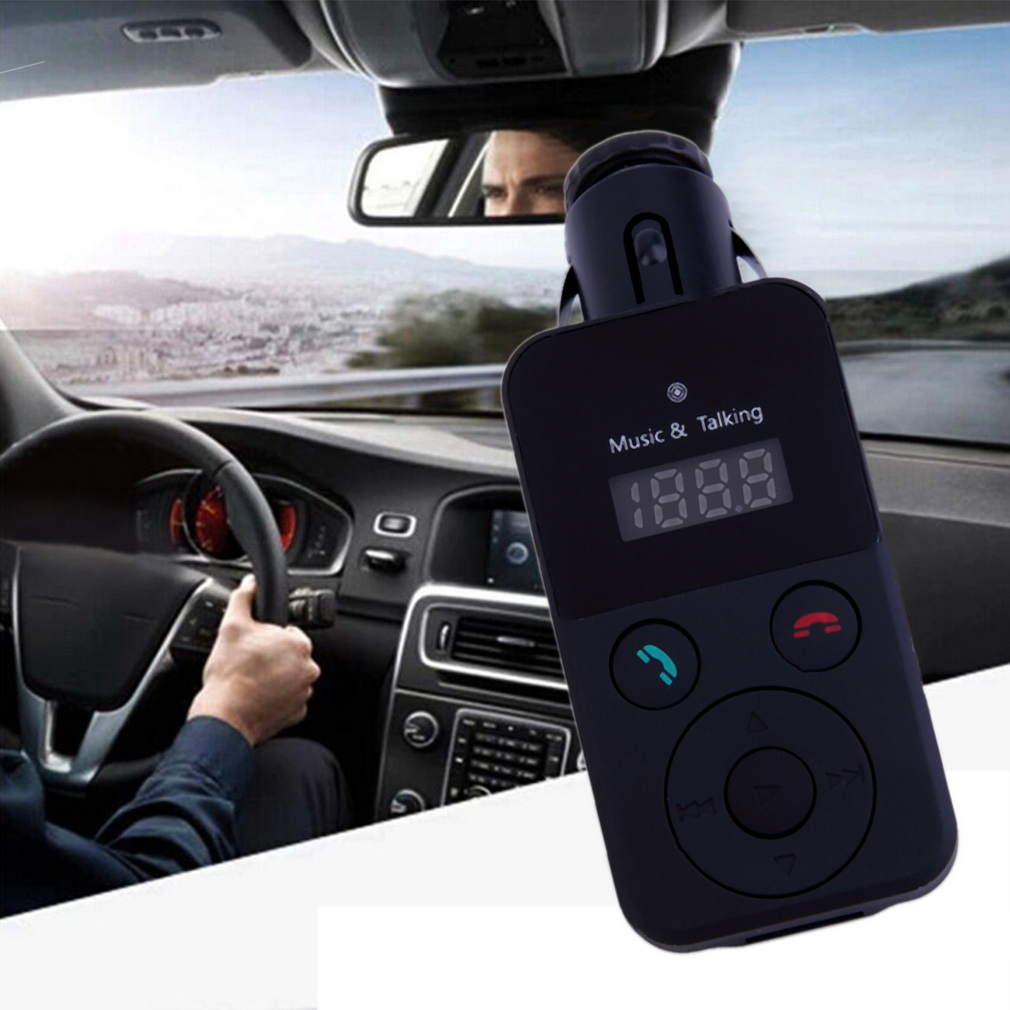 New LCD Bluetooth Car Kit MP3 FM Transmitter SD USB Charger Handsfree for iPhone car charger