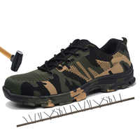 Neue Plus Größe 47,48 herren Outdoor Stahl Kappe Kappe Schutz Sicherheit Schuhe Männer Stahl-Mid Sohle Pannensichere arbeit Schuhe Atmungsaktiv