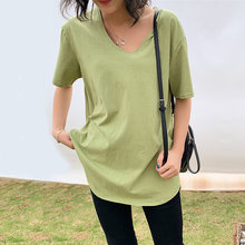 Women T Shirt 2019 Summer Top Elastic Basic T-shirt Fashion Tee Woman M 4XL Plus Size Tshirt Cotton Female Casual Tops TShirts(China)