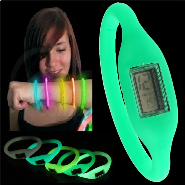 Gnova Platinum Black Dial glow in the dark fashion kids watch Date function Sili