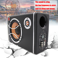 6 400W Active Powered Car Audio Subwoofer Stereo Bass Speaker Amp Sub Box 12V Car Subwoofers