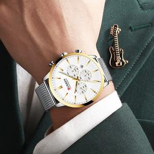 Image 2 - 2019 New CURREN Watch Men Chronograph Quartz Business Mens Watches Top Brand Luxury Waterproof Wrist Watch Reloj Hombre Saat