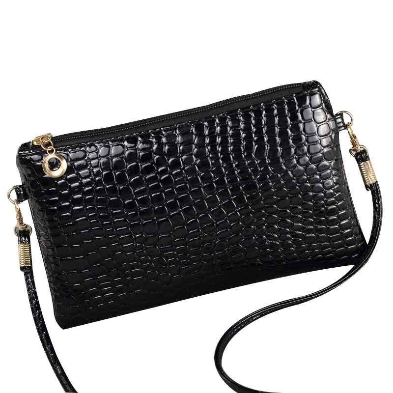 Fashion Women Messenger Bags Leather Shoulder Bag Alligator Women Bag Ladies Casual Tote Zipper Flap Leather Shoulder Strap New