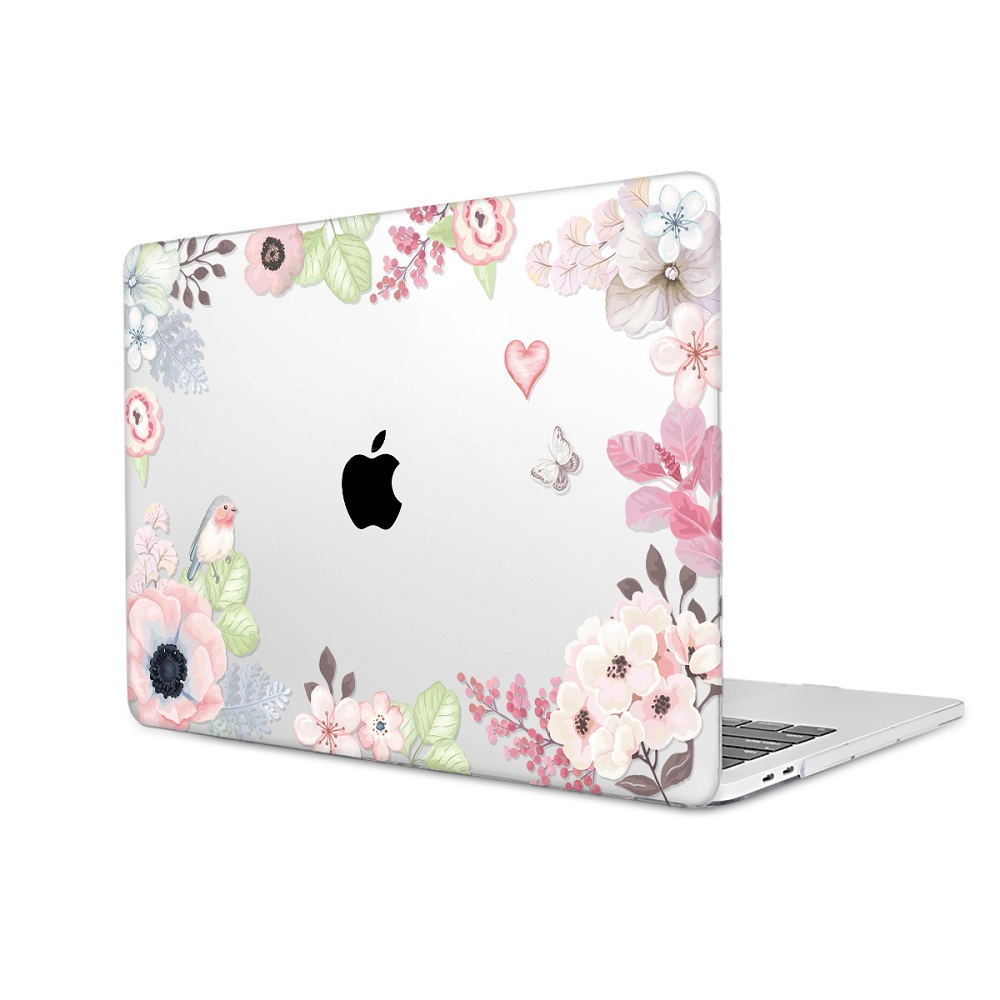 Floral Printing Hard Case for MacBook 107