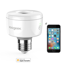 Умная розетка Koogeek E26, Wi Fi, умная лампа для дома, адаптер, умная лампа, дистанционное управление/Голосовое управление для Apple HomeKit [только для IOS]