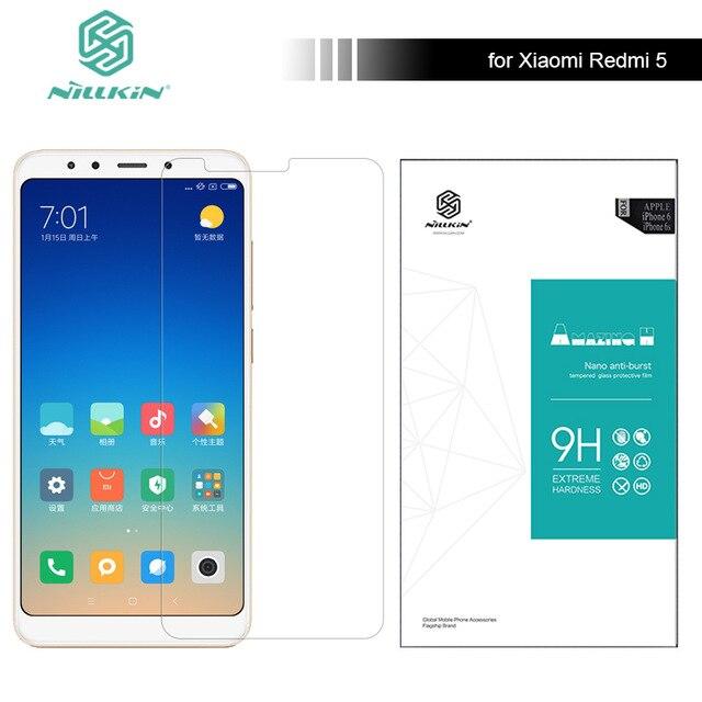 Nillkin 9H Amazing H Anti-Explosion Tempered Glass Screen Protector For Xiaomi Redmi 5 Hongmi 5 Red Rice 5 5.7 screen film