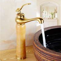 Màu xanh của châu âu ngọc cẩm thạch nóng và lạnh nước lưu vực vòi nước đồng mạ vàng Đèn Ma Thuật chậu rửa phong cách vòi mixer tap