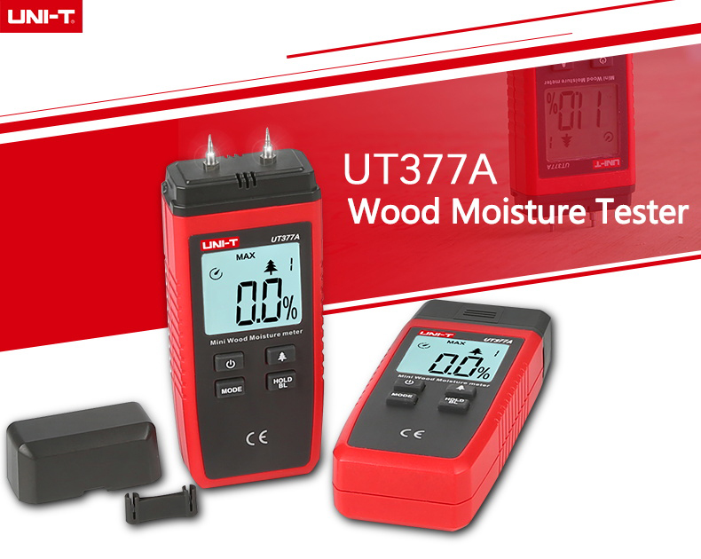 UNI T UT377A Digital Wood Moisture Meter Used as Humidity Tester for Paper Plywood and Wooden Materials 14