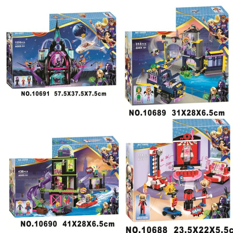 DC Marvel Super Hero Girls Figures Eclipso Dark Palace Building Blocks Bricks Toys Compatible Legoings Wonder Woman