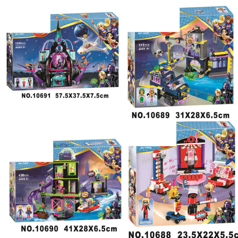 DC Marvel Super Hero Girls Figures Eclipso Dark Palace Building Blocks Bricks Toys Compatible Legoings Wonder Woman