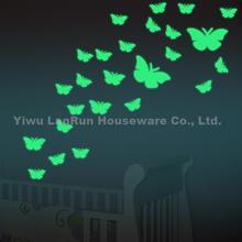 25PCS/Set Butterfly Luminous Sticker Wall Stickers For Kids Glow In Dark Sticker Fluorescent Sticker Vinyl Wallpaper Home Decor