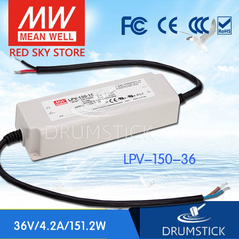 (Only 11.11)Hot sale MEAN WELL LPV-150-36 (2Pcs) 36V 4.2A meanwell LPV-150 36V 151.2W Single Output LED Switching Power Supply selling hot mean well lpv 150 15 15v 8a meanwell lpv 150 15v 120w single output led switching power supply