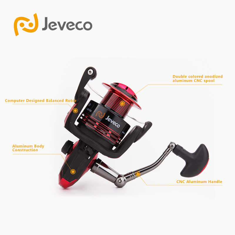 Jeveco FireBall Spinning Angelrolle, Lure Reel Fishing 5.5: 1 6 + - Angeln - Foto 3