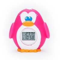 Led Display Baby Kid Penguin Water Shower Thermometer LED Display Water Shower Thermometer Flow Water Temperture Monitor 2019