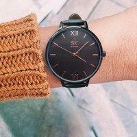 SK Women Watches Ladies Fashion Leather Bracelet Watch Top Luxury Brand Casual Clock Reloj Mujer 2017