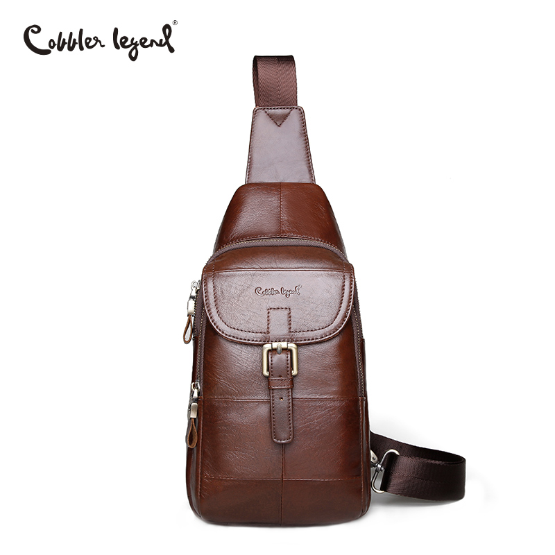 Cobbler Legend Fashion Genuine Leather Crossbody Bags Men Small Male Shoulder Bag Casual Men's Lock Chest Bags Brand Messenger цена