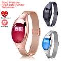 Z18 faixa de Pressão Arterial Monitor De Freqüência Cardíaca Pedômetro Inteligente pulseira bluetooth Para IOS Android Mulheres Presente Luxuoso Relógio P20