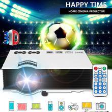 LEORY 7000 Lumens Smart Portable Mini LED 3D TV Projector Vi