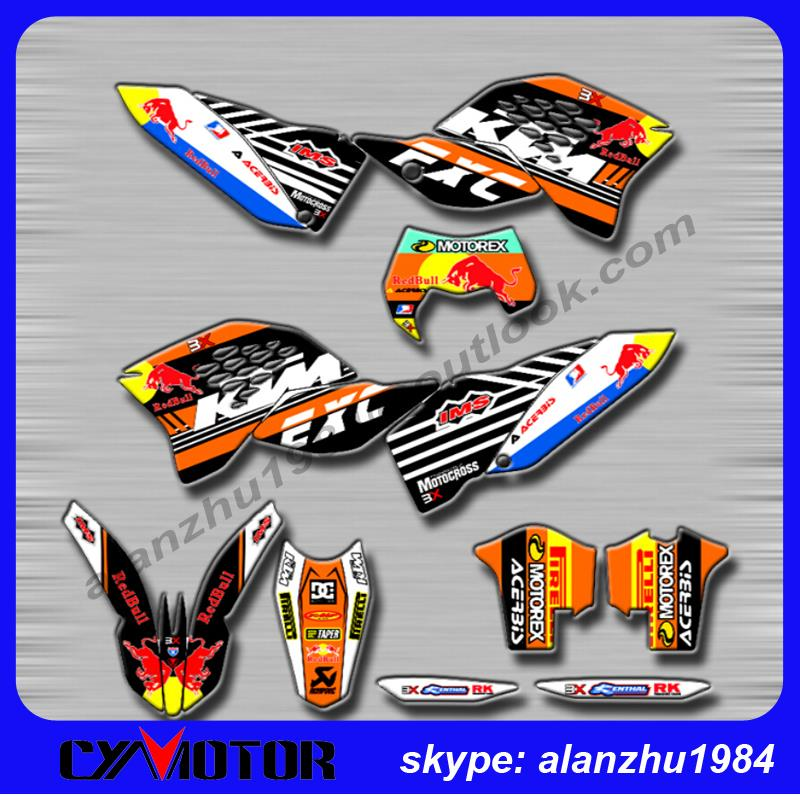 Online Get Cheap Kit Stickers Ktm Aliexpresscom Alibaba Group - Red bull motorcycle custom stickers