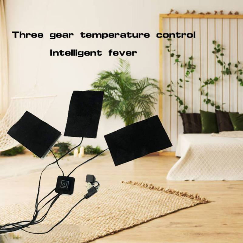 5V USB Warm Paste Pads Electric Heating Mat For Winter Coats USB Charged Multifunctional Waterproof Winter Warmer For Lady Kid
