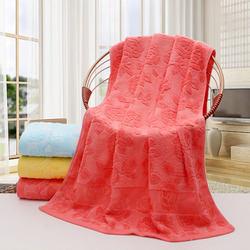 Simanfei Towel 2019 New Arrival Bamboo Fiber Rose Floral Printed Bath Towels Super Soft Absorbent Quick Dry Towel High Quality