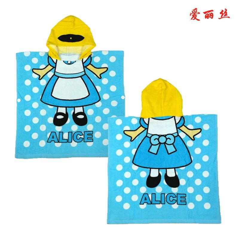 Мультяшные халаты «Алиса» для мальчиков и девочек, «Белоснежка», «динозавр», «панда», «машинка», «робот», милое детское банное полотенце, детский банный халат, пижама - Цвет: alice