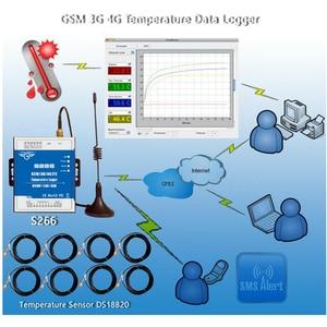 Image 5 - GSM 3 グラム 4 4G LTE 携帯 RTU テレメトリ温度データロガー 8 チャンネル温度監視アラート sms 経由/ コール/GPRS S266
