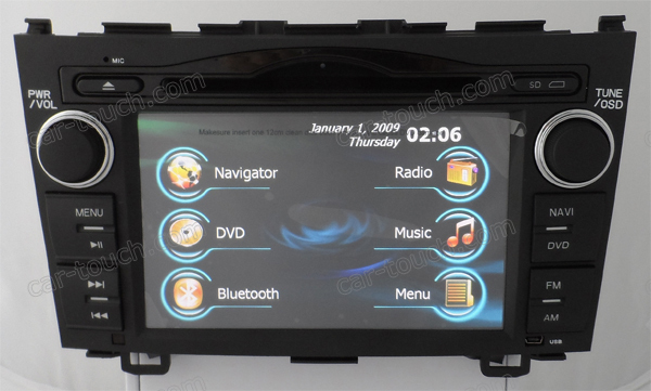 2 Din DVD Player GPS for Car Honda CR-V GPS Entertainment System