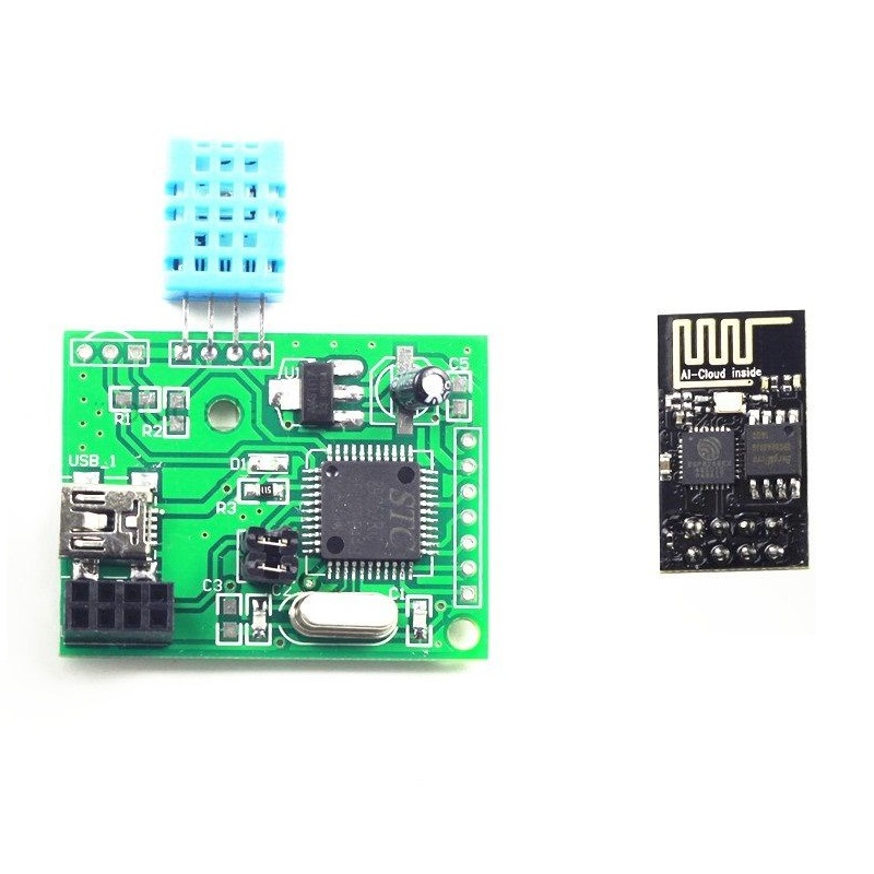 ESP8266 Wifi Temperature Humidity DHT11 STC89C52RC Detection Module NEW  цена и фото