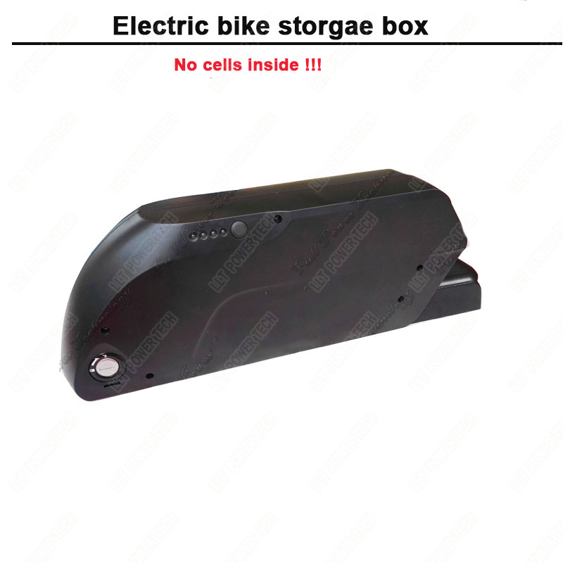 48V or 36V electric bicylce battery storage box and e bike down tube battery case with