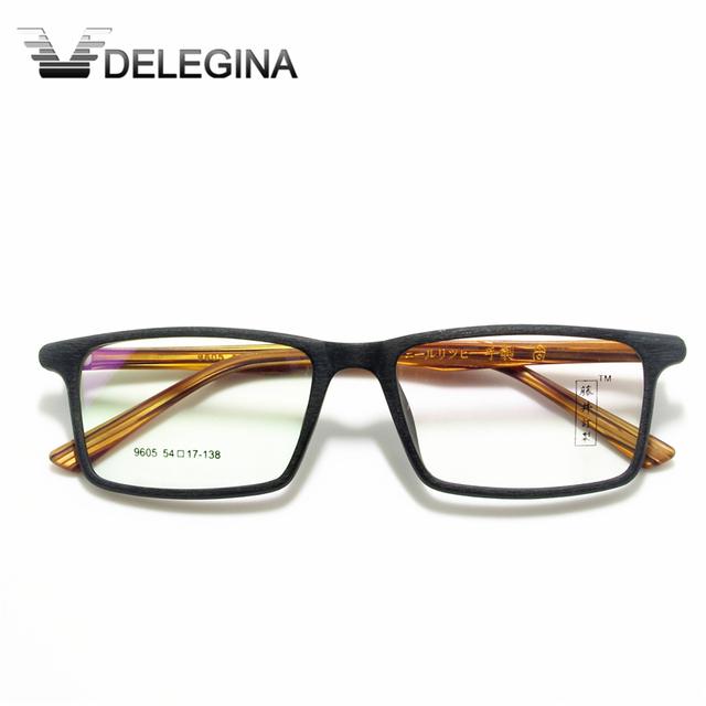 2016 Óculos de Armação Mulheres Homens Marca designer de óculos Armações de óculos de Madeira Granulação