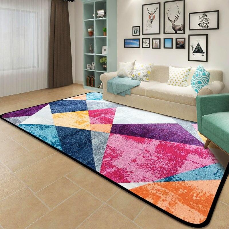 Tapis et tapis abstraits colorés créatifs pour la maison salon tapis doux enfants chambre tapis de sol tapis de Table basse tapis
