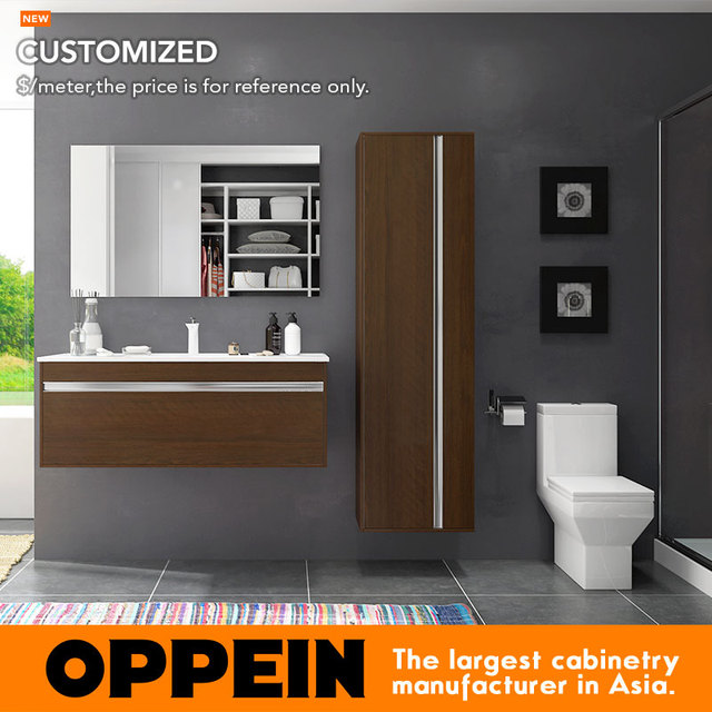 Contemporary Design Wall Mounted Wooden Bathroom Floating Vanity Bc17 M01