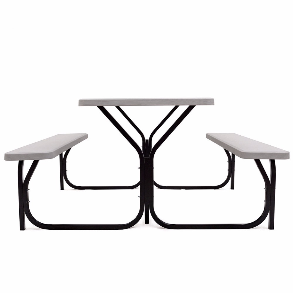 Giantex <font><b>Table</b></font> Set Outdoor Backyard Garden Party Dining Weather Furniture