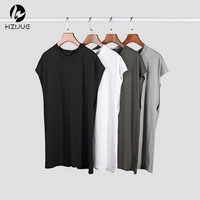 Streetwear Korean Fitness Men Fashion Blank Gym Clothing Bodybuilding Wife Beaters Muscle Shirt Workout Summer Tank