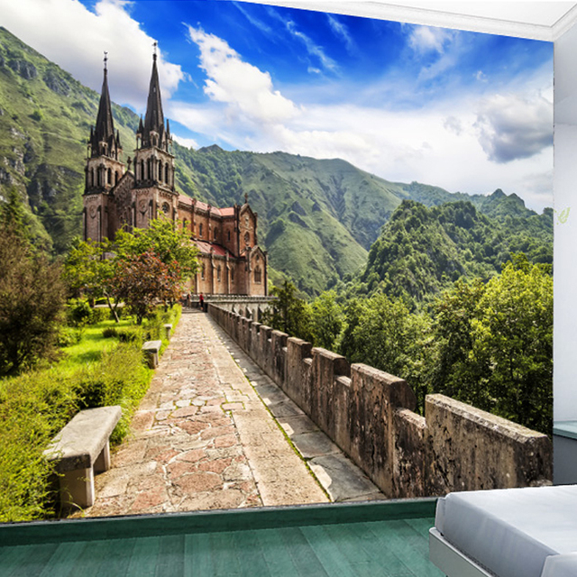 High Quality Custom 3D Photo Wallpaper Natural Scenery TV