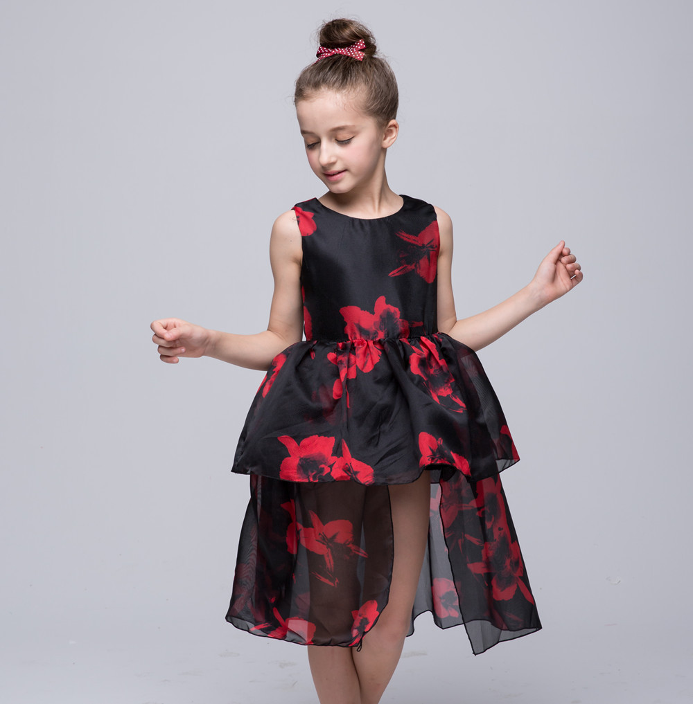 816eb3332 Girls dresses summer sleeveless performance clothing for 4 5 6 7 8 9 ...