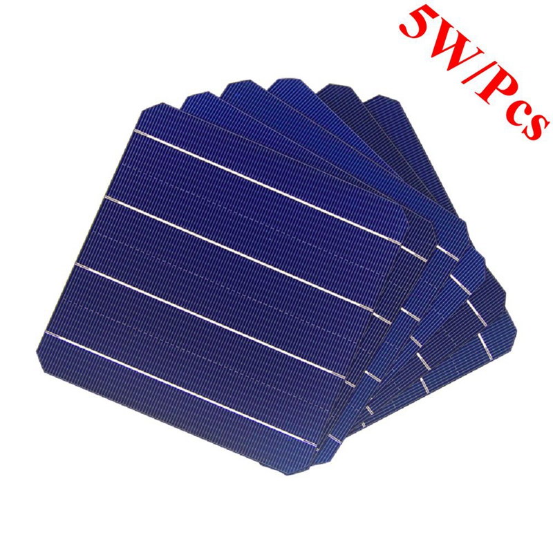 20 Pcs 5W Mono Solar Cells 156 x 156mm For DIY Monocrystalline Solar Panel