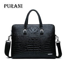 Men Briefcases Leather Crocodile Pattern Messenger Shoulder Bag Handbags Male Business Brand Briefcases Casual Men Laptop Bag luxury crocodile pattern leather laptop bag men fashion casual business travel bag men tablet notebook bag 2016 new