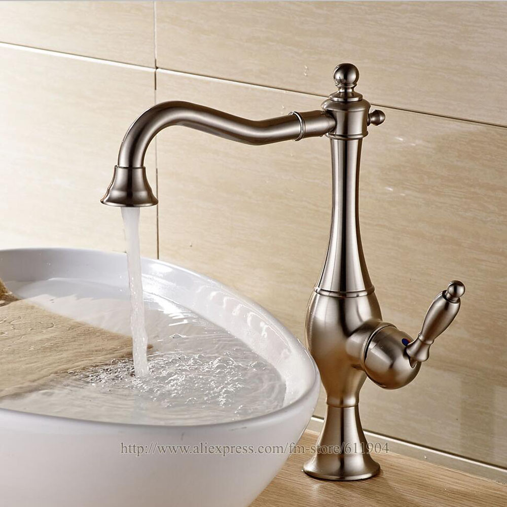 Bathroom Faucet Classic Lavatory Bath Basin Sink Tall Small Faucets ...