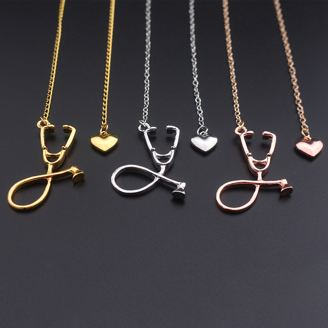 Necklace For Daughter Best Zinc Alloy Stethoscope Heart Necklace Cheap