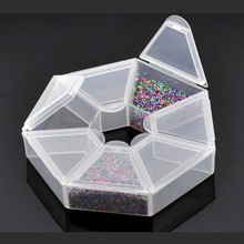 5Pcs/lot Wholesale Clear Hexagonal Powder Liquid Carrring Display Container Cases Storage Boxes 9x9x2cm
