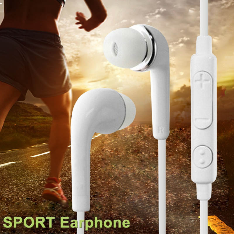 Hot selling gift music Earphones 3.5mm Earbuds  Sport Headset With Mic for iphine xiaomi LG Samsung Galaxy S3 S4 S5 S6 S7