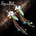 Especial de moda de nova pedra Natural Dangle brincos mar Shell brincos Set presentes na moda jóias para as mulheres EH160321