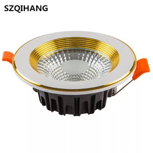 LED Recessed Downlights7W 10W 15W 20W Dimmable Down Lamps High Quality COB Ceiling Lamp AC110V/AC220V